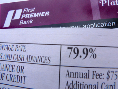 Subprime Credit Card Issuer First Premier Bank APR is 79.9%